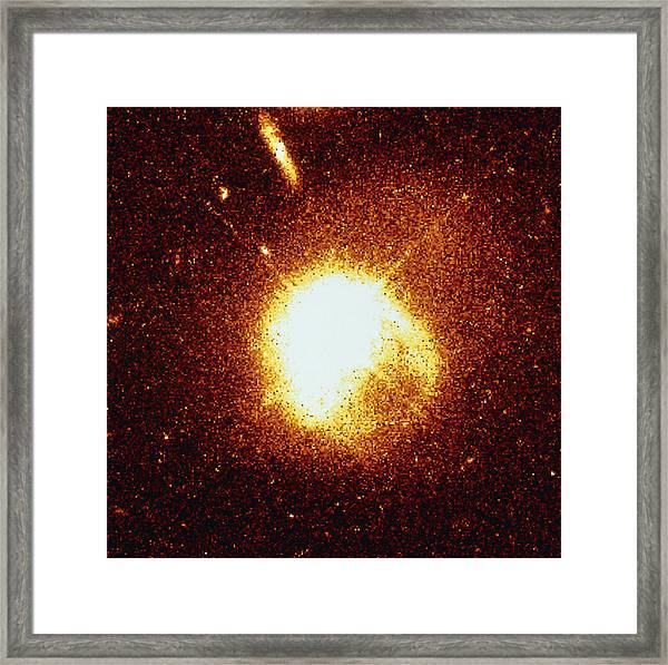 Quasar Interacting With A Companion Galaxy by Nasaesastscij bahcall,  Princeton Ias