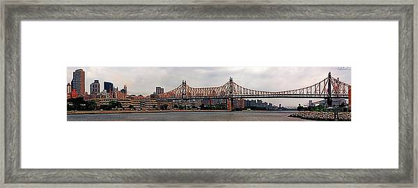 Queensboro Bridge Framed Print