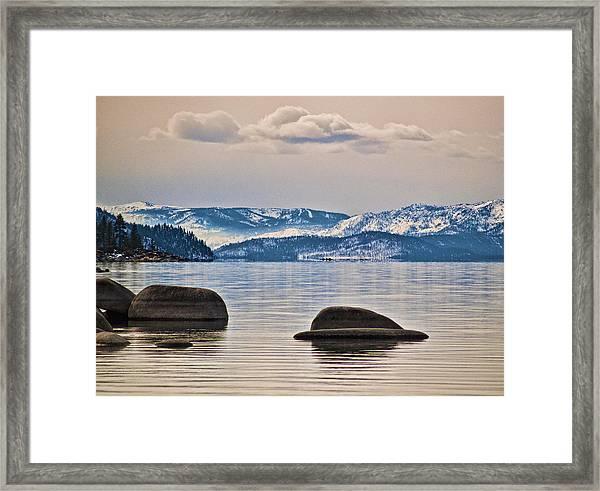 Quiet Lake Tahoe Framed Print