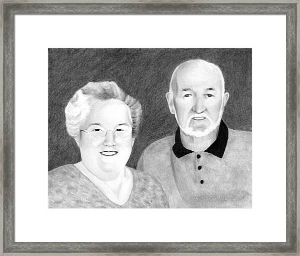 Raeleen And Jim Campbell Framed Print