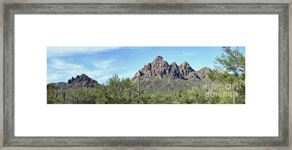 Ragged Top Mountain Panorama Framed Print
