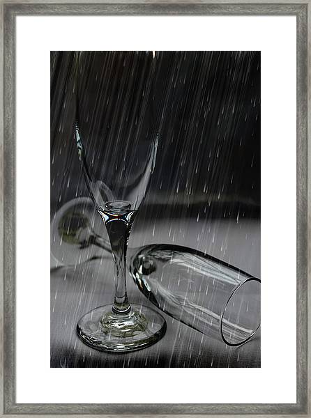 Rain Glasses Framed Print