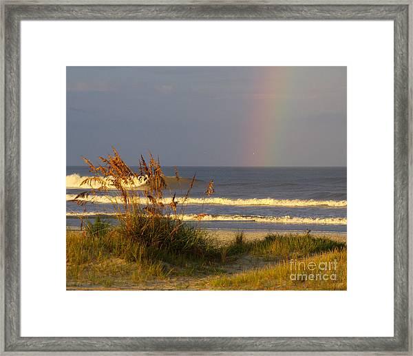 Rainbow - Saint Augustine Beach Framed Print by Jon Hartman