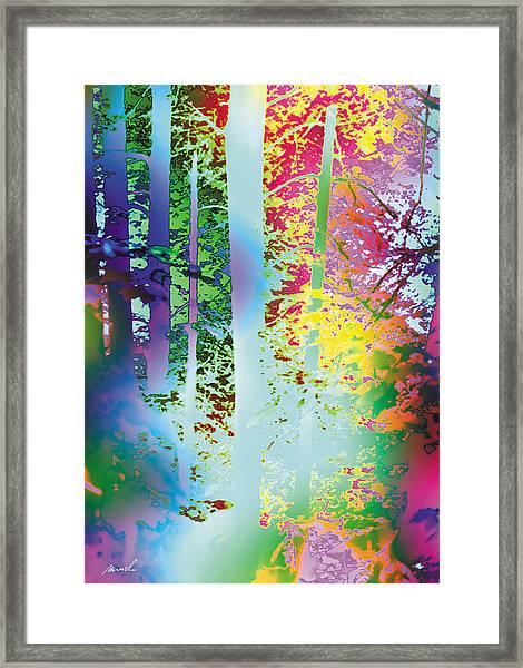 Rainbow Forest Framed Print by The Art of Marsha Charlebois