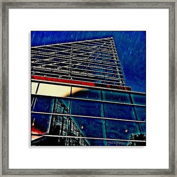Rains Reflection Framed Print