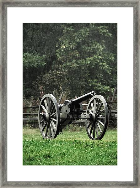 Rainy Day On The Battlefield Framed Print