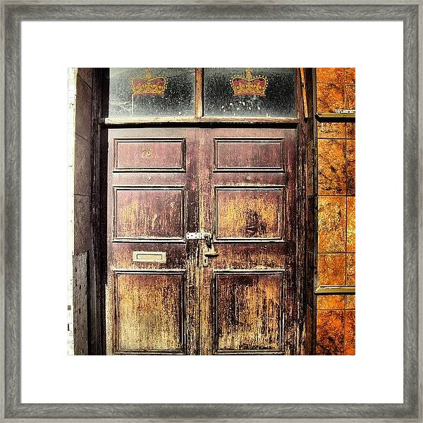 Random Door In Liverpool Streets Framed Print