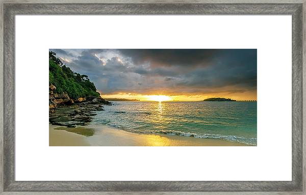 Rays Of Congwong Bay Framed Print