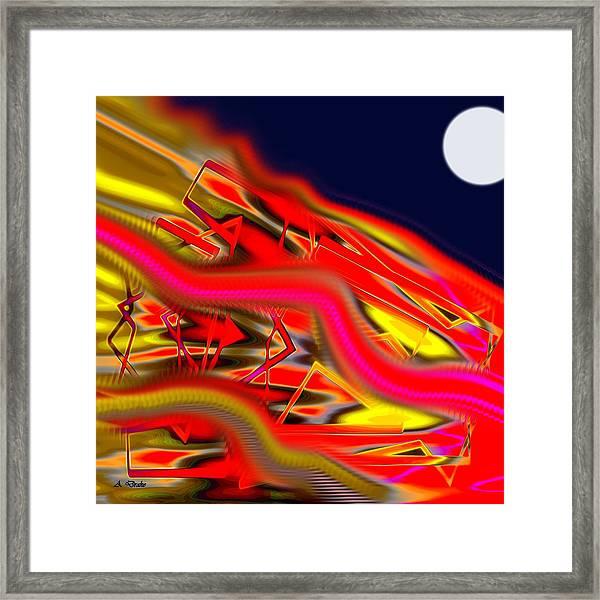 Re-entry Burn Framed Print