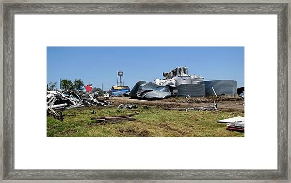 Reading Kansas Tornado Recovery  Framed Print