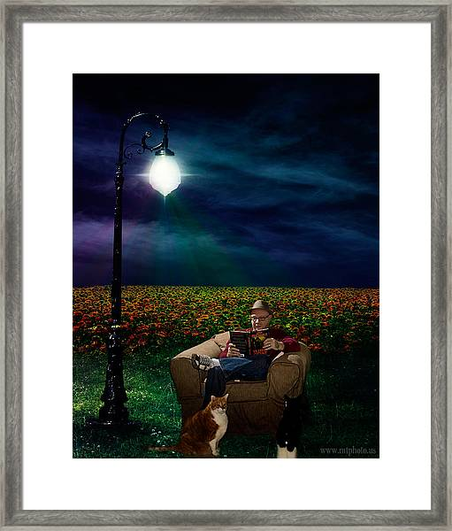 Framed Print featuring the photograph Reading Light by Michael Taggart