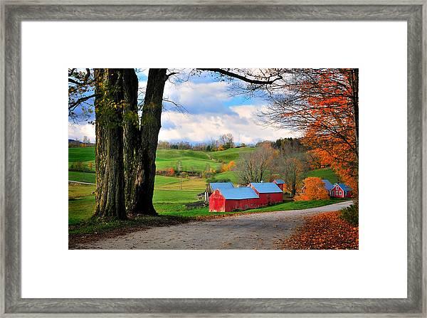 Reading Vermont - Jenne Road Framed Print