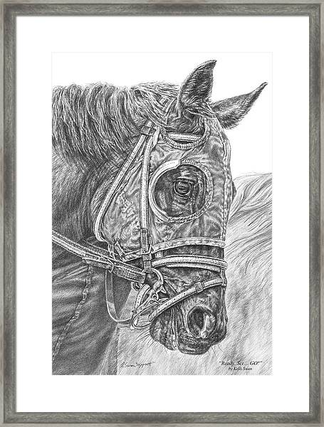 Ready Set Go - Race Horse Portrait Print Framed Print
