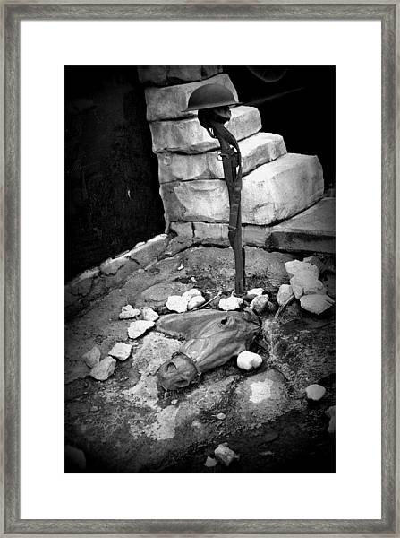 Reality Of War Framed Print