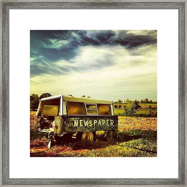 Recycling In The Country Framed Print