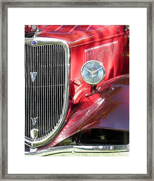 Red Ford Roadster Hot Rod Fine Art Photo Framed Print