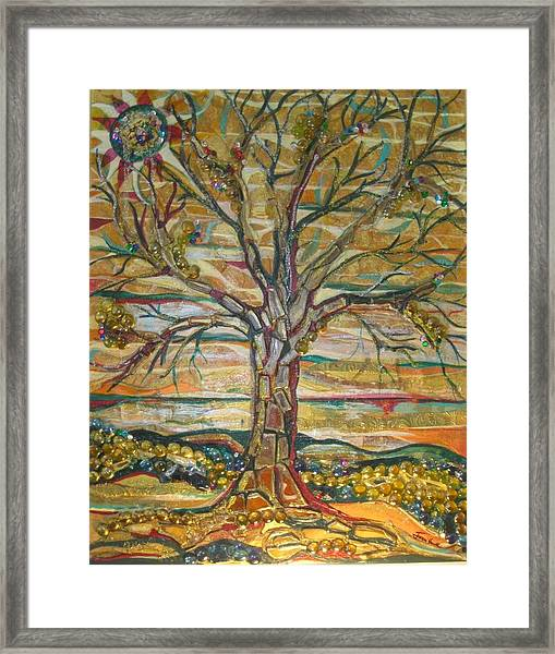 Red Oak Waiting Framed Print