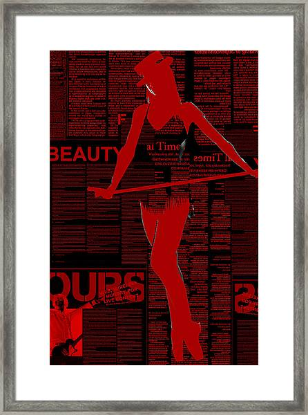 Red Paper Dance Framed Print
