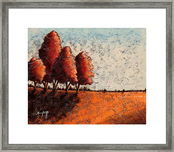 Red Quartet  Framed Print