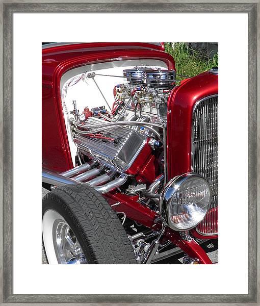 Red Roadster Hot Rod Fine Art Photo Framed Print
