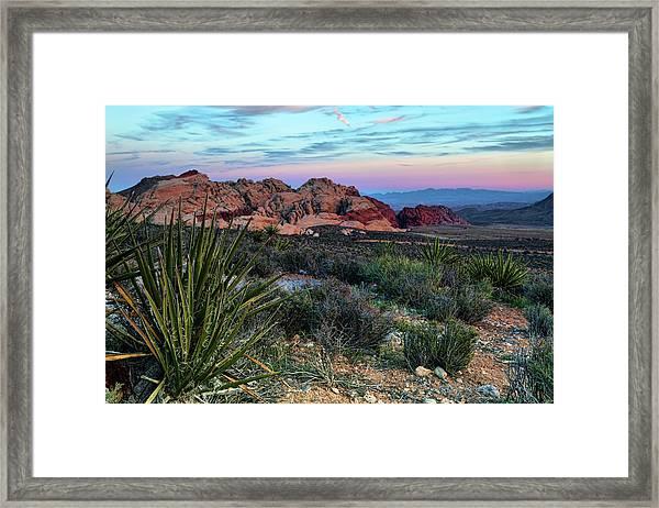 Red Rock Sunset II Framed Print