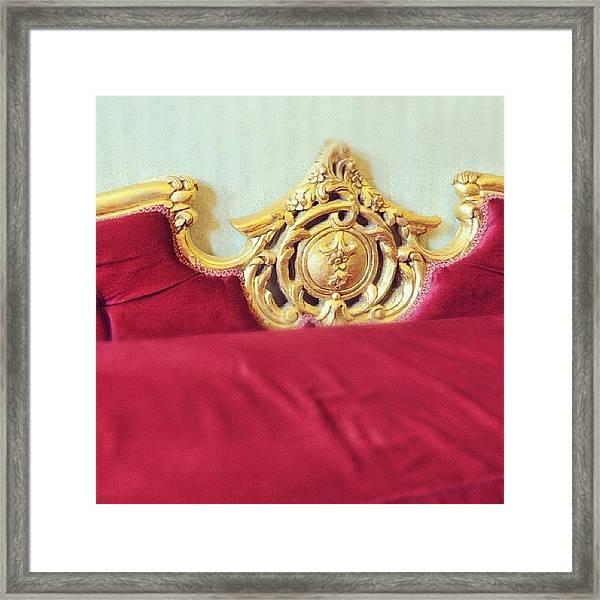 Red Sofa Framed Print