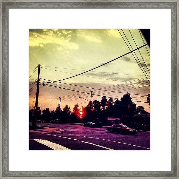 #red #sun Framed Print