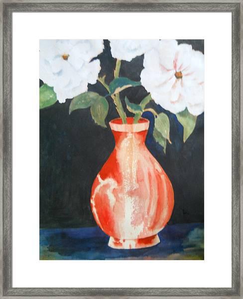 Red Vase Framed Print