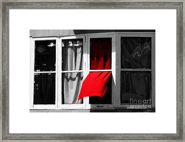 Red Wave Framed Print