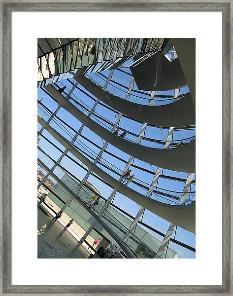 Reichstag Dome Framed Print