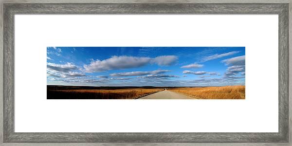 Relaxing Drive Framed Print