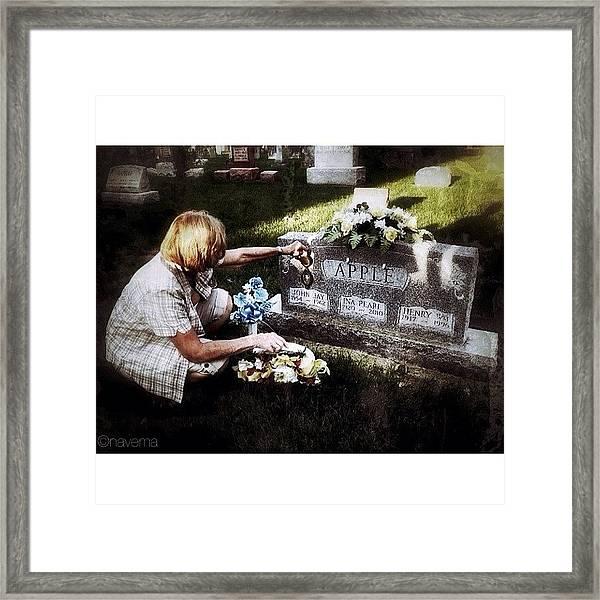 Remembering Her Little Brother Framed Print