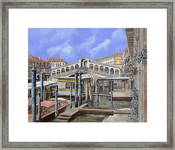 Rialto Dal Lato Opposto Framed Print