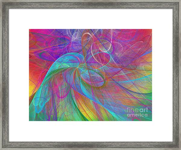 Ribbons Of The Rainbow Framed Print