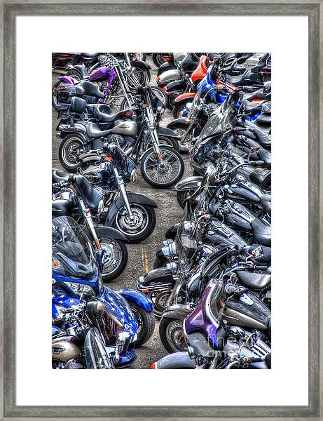 Ride And Shine Framed Print