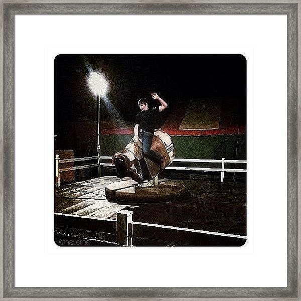 Ride The Bull Framed Print
