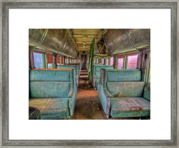 Riding In Coach Framed Print