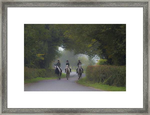 Riding In Tandem Framed Print