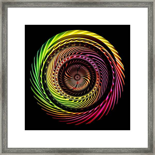 Framed Print featuring the digital art Ring Of Fire by Visual Artist Frank Bonilla