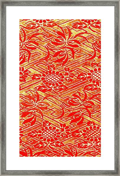Rinzu Figured Satin Print 1825 Framed Print by Padre Art