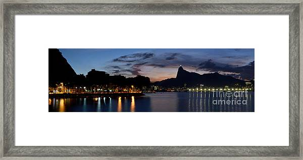 Rio Skyline From Urca Framed Print