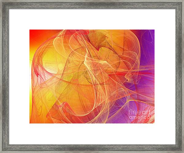 Rising Radiance Framed Print