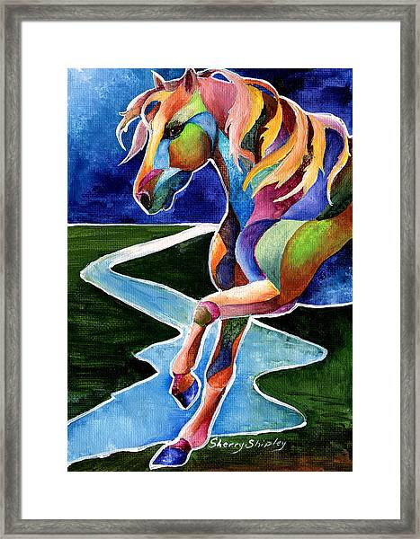 River Dance 2 Framed Print
