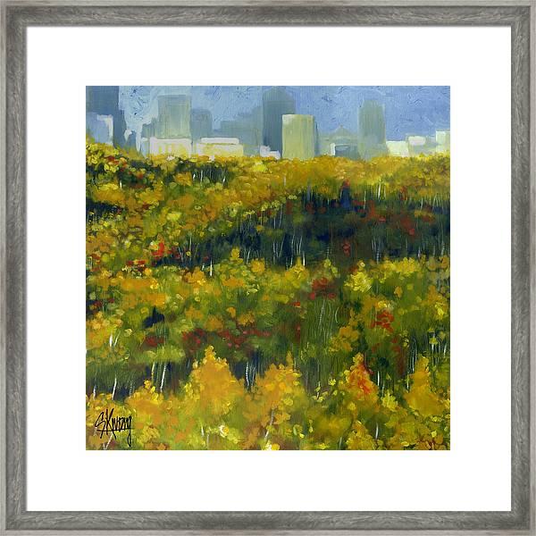 River Valley Yeg Framed Print