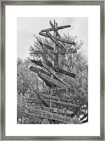 Road Map Framed Print
