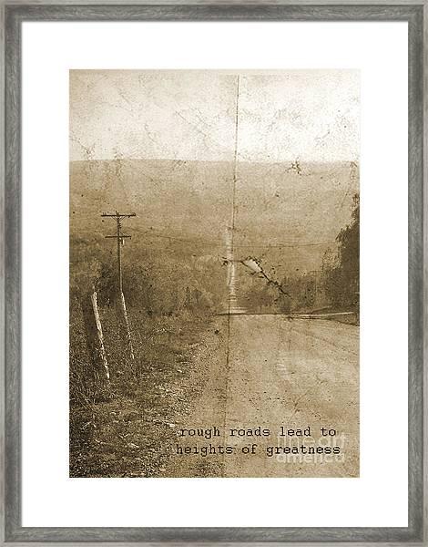 Road Not Traveled  Framed Print
