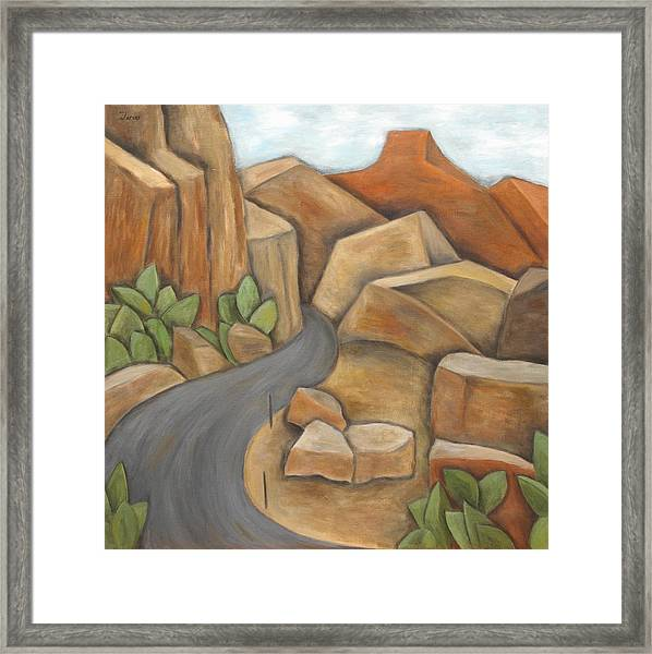 Road To Zion Framed Print