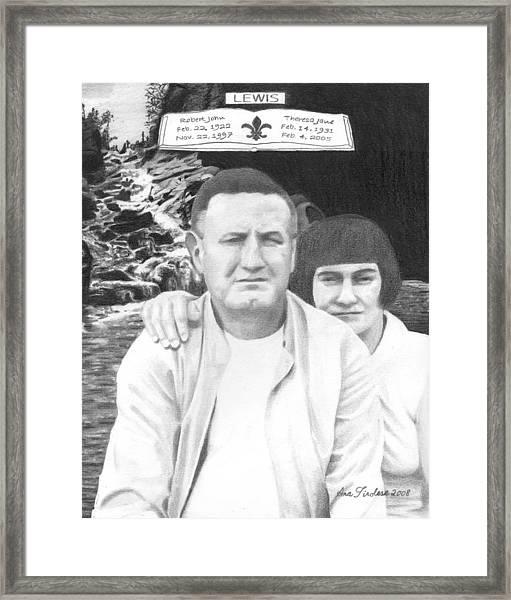 Robert And Theresa Lewis Framed Print