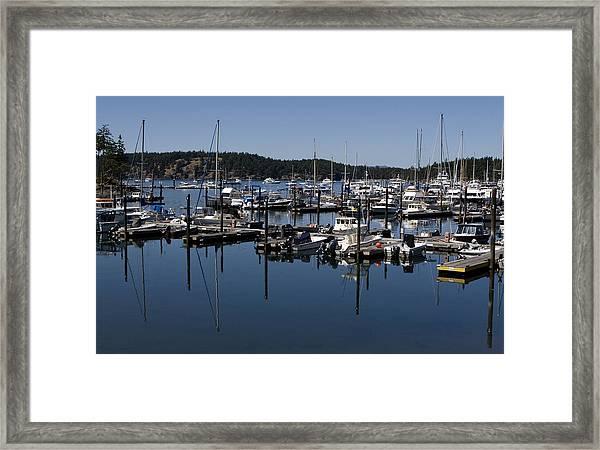 Roche Harbor Reflected Framed Print