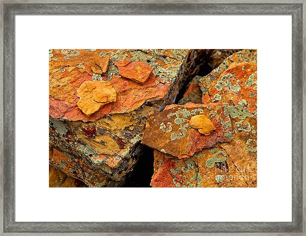 Rock Abstract I Framed Print